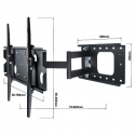Heavy Duty Articulated TV Bracket for 32-85 inch Screens 80kg