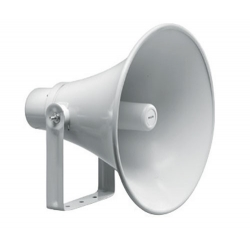 Round Horn Speaker, 400MM, Grey Aluminium/ABS, 30 W 100V Each