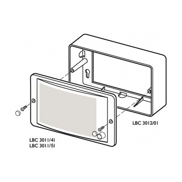 bosch surface mounting box for panel speaker lbc 3011  41