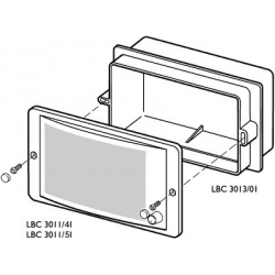 Flush Mounting Box For Panel Speaker LBC 3011/41 or 51 (Each)