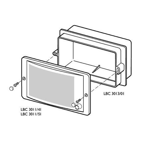 Flush Mounting Box For Panel Speaker LBC 3011/41 or 51 (Each)