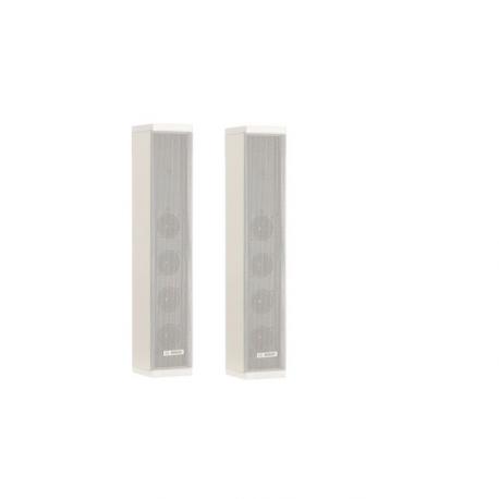 Metal Column Loudspeaker IP65 Rated, 100V/8 Ohm White (Each)