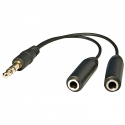 3.5mm Stereo Splitter (Male To 2 X Female)