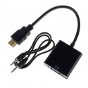 HDMI To VGA Converter With 3.5mm Audio