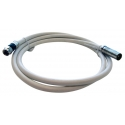 TV Flylead F-Pal Male White RG59 1.5m