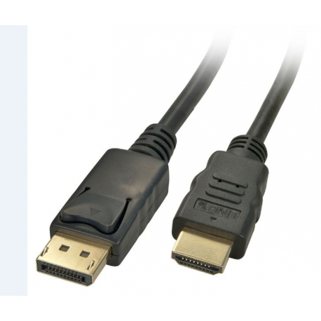 Display Port Male To Hdmi Male Lead 3m White