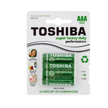 Toshiba AAA Battety 4 Pack Super Heavy Duty