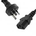 IEC-C13 Power Cable Black 1M