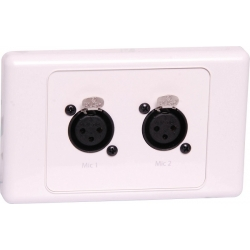 Wall Plate Dual XLR Female