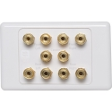 Wall Plate Clipsal Style 10 x Speaker Posts