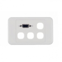 Vga With 4 Blanks Clipsal Style Wall Plate