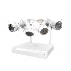 EZVIZ 1080p WIFI Camera System 4 Channel Inc 4 Cameras Nvr 1tb