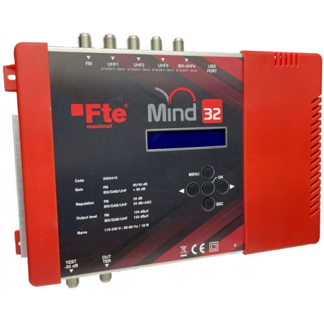 Mind32 Programmable Amplifier 32 Filters (BIII/UHF)
