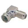 F-Type 90 Degree Coaxial Adapter Male to Female
