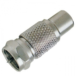 F-Type Male to RCA Female Adapter