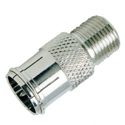 F-Type Male Quick Connect to F-Type Female Adapter
