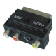 Scart to RCA-S-Video Switchable Two-way Adaptor