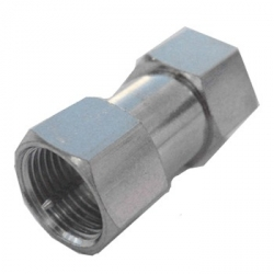 F-Type Barrel Male to Male Adapter