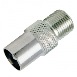 PAL Male to F-Type Female Adapter