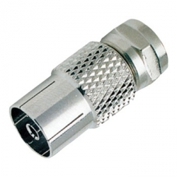 PAL Female to F-Type Male Adapter