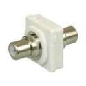 Wall plate RCA to RCA Insert - White