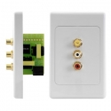 Wall Plate Kit Composite AV over Cat5e