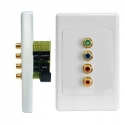 Wall Plate Kit Component Video with Digital Audio over Cat5e