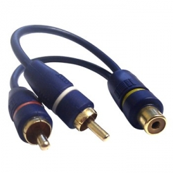 2 x RCA Female to RCA Male Fly-lead