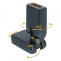 HDMI 360 degree Male to Female Adapter