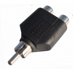 RCA Male to RCA Female Splitter Combiner
