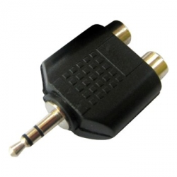 3.5mm Male Stereo Plug to Twin RCA Female Adapter