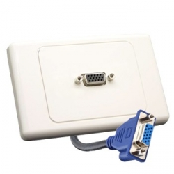 VGA Wall Plate with Rear Tail
