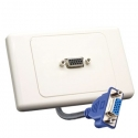 Wall Plate VGA with Rear Tail