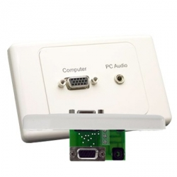 VGA Wall Plate with 3.5mm Audio with 90 degree back