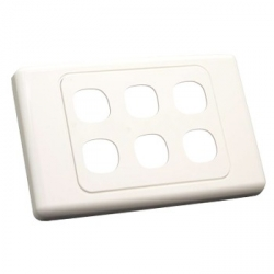 Six Gang Wall Plate