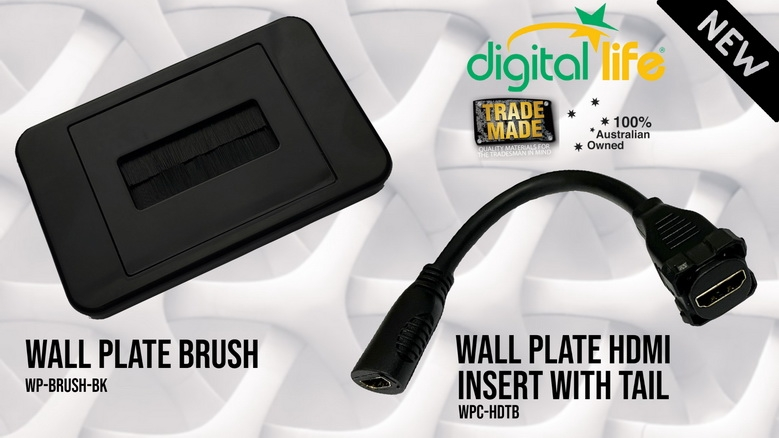 Brush Plate and HDMI Insert with Tail